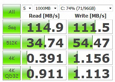CrystalDiskMark 3.0.1 WD6400AAKS 1000MB