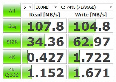 CrystalDiskMark 3.0.1 WD6400AAKS 100MB