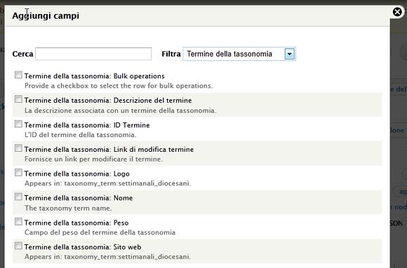 Drupal 7: I campi dei termini della tassonomia sono ora disponibili per la visualizzazione